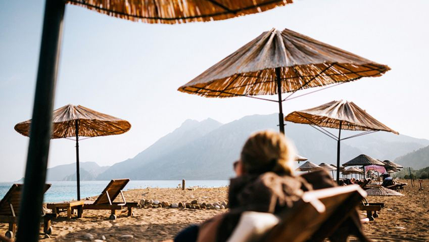 Head to Olympos Beach for a -rewarding dip after a long hike. Photo: Kajsa Göransson