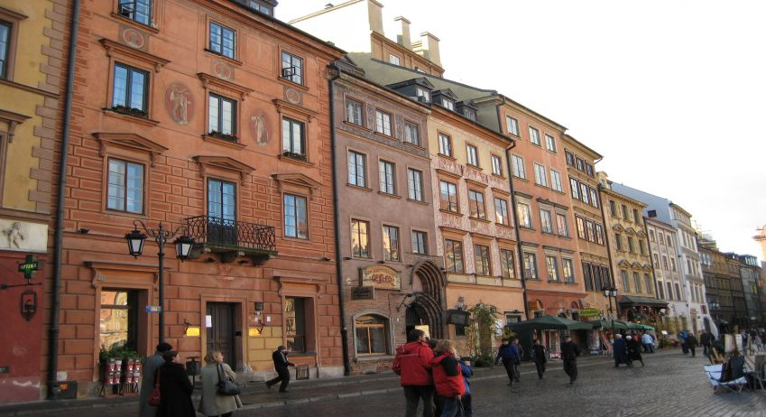 The Old town in Warsaw.  Photo: Lise Hannibal
