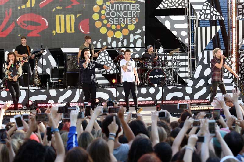 Free concerts are held in Central Park. This one is when One Direction visited last year. Photo: JStone/Shutterstock