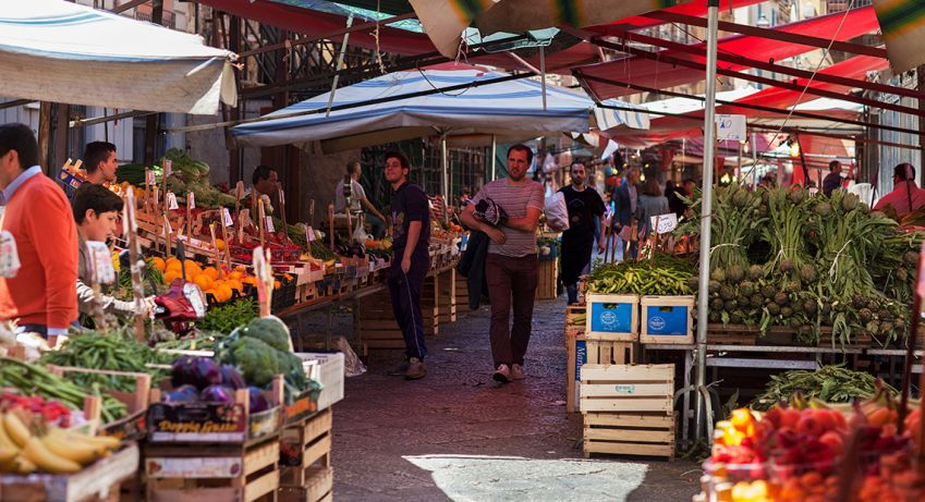 Il Capo (the head) is the best of Palermo's four main street markets. Photo: Dan Kullberg