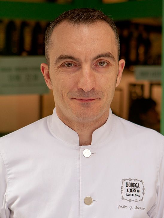 Pedro Asensio, Head Chef at Bodega 1900.