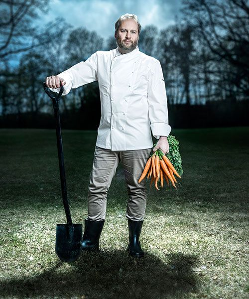 Peter Lawrance, SAS Head Chef, has created the new menus based on Nordic produce and seasonal ingredients. Photo: Magnus Glans