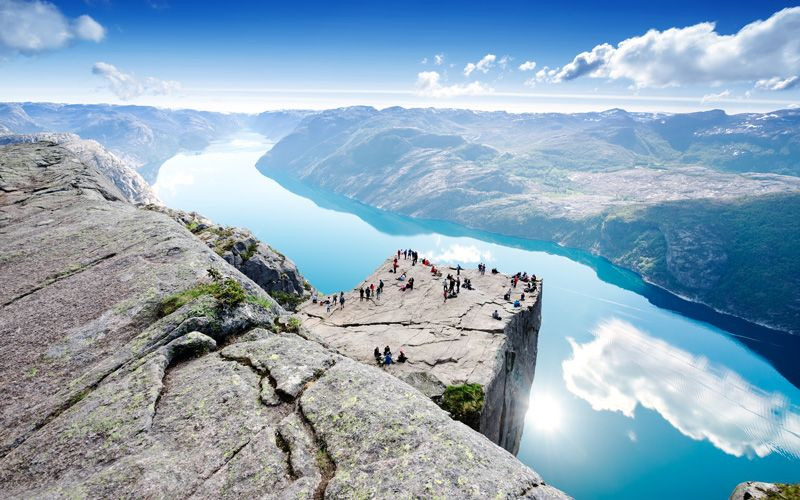 Predikstolen – one of the world's ten most spectacular viewpoints. Photo: Shutterstock
