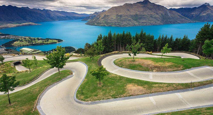 The approach into Queenstown Airport is amazing, with views of The Remarkables mountain range and Lake Wakatipu. Photo: Shutterstock
