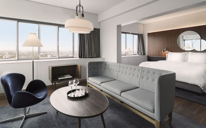 Newly renovated hotel room composed by Space Copenhagen. Photo: Rickard L. Eriksson