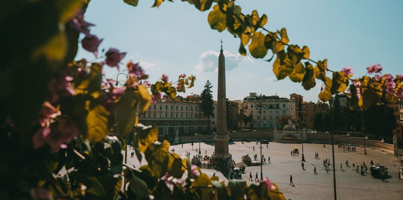 At Piazza del Popolo you can find the second tallest obelisk in Rome. Photo: Chiara Magi