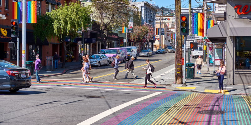 The colorful Castro district in San Francisco. Photo: Shutterstock