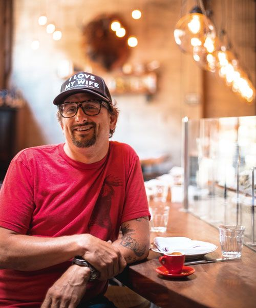 Chris Cosentino, chef/owner of Cockscomb, is equally at home cooking animal or plant-based meat. Photo: Marc Olivier Le Blanc