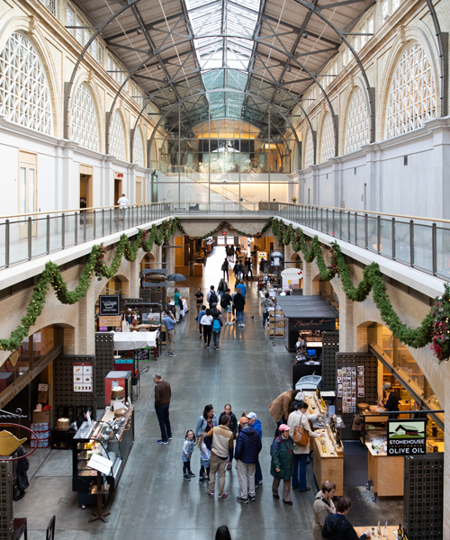 You can rent bikes outside of Ferry Building - but don't miss the many celebrated regional artisan producers inside. Photo: Kaare Iverson