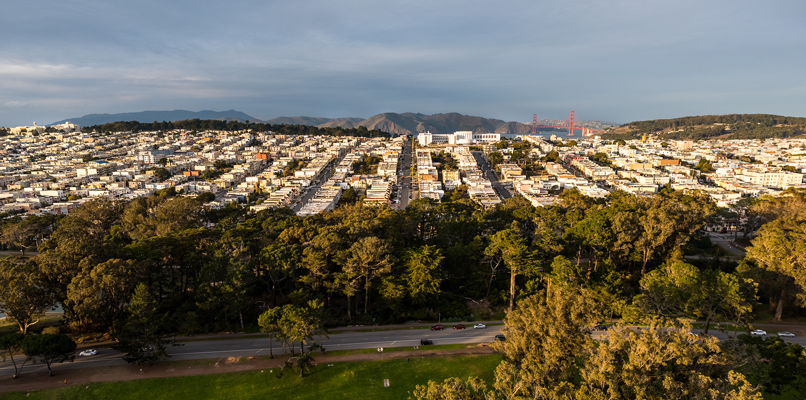 View of the Richmond district of San Francisco. Photo: Shutterstock