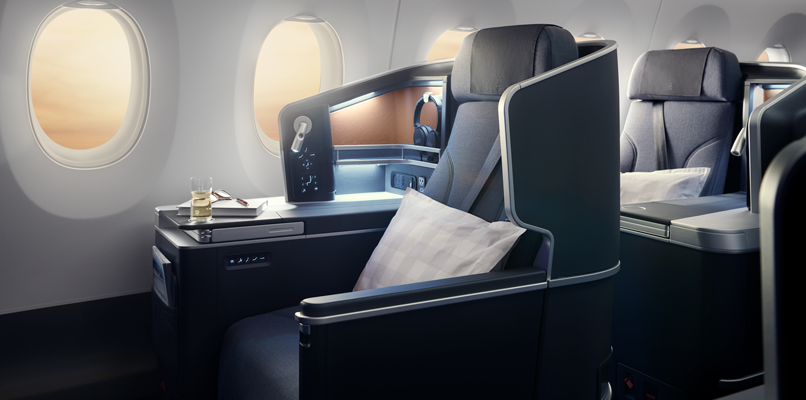 SAS Business class has improved seat padding and also an increased range of adjustments to recline.