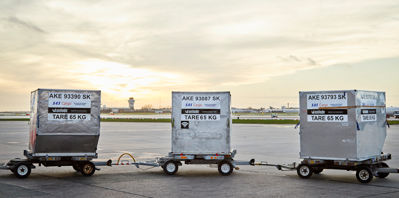 On any given SAS long-haul flight, there's up to 20 tons of cargo.