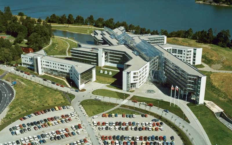 Frösundavik from above in the 1980s.