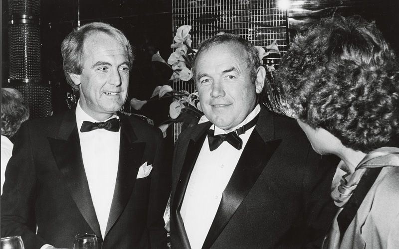 Jan Carlzon and Swedish boxer Ingemar Johansson at the Airline of the Year award ceremony in 1983. Photo: SAS