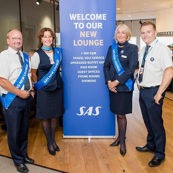 SAS Lounge at Arlanda airport just had their big new launch.