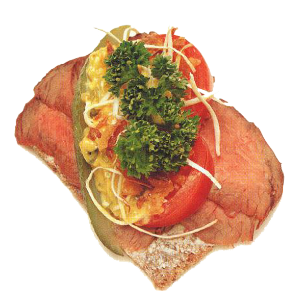One of the smørrebrøds onboard.