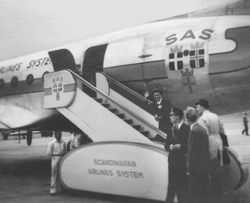SAS DC-4 to Brazil 1946-10-01 from Bromma Airport.