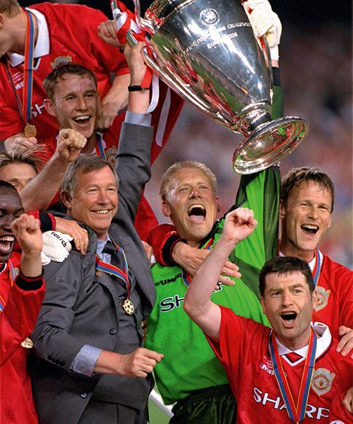"Peter Schmeichel won the Premier League title five times, ""…but the feeling I had when he (Kasper) won it, was twice as good. It meant much, much more to me."" Photo: GETTY"