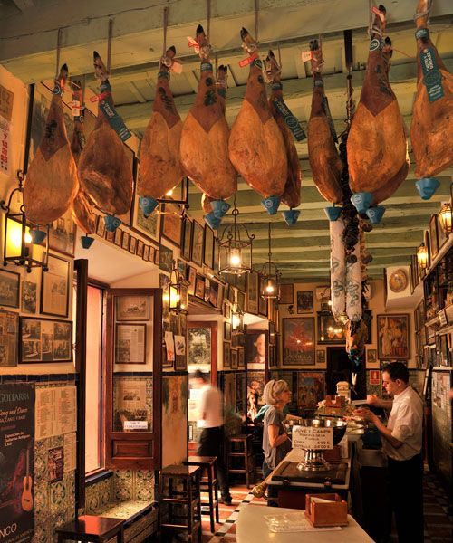 Cozy restaurant in Seville. Photo: Debbie Papyn