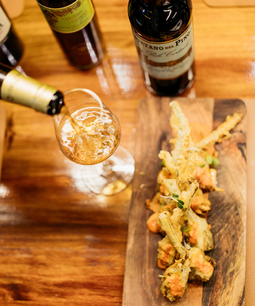 Try a glass of sherry together with Spanish tapas. Photo: Reece Iveson