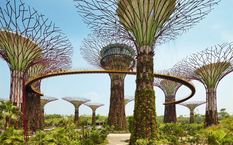 Marina Bay og Gardens by the Bay i Singapore. Foto: Shutterstock