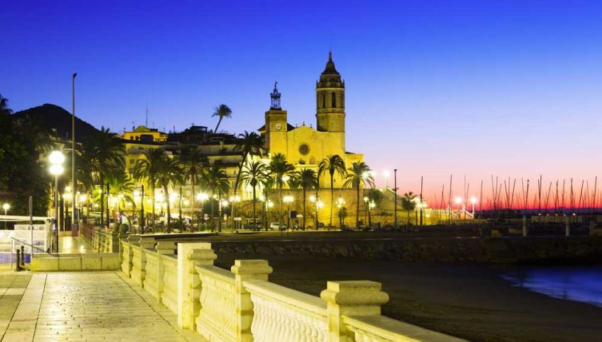 Sitges, south of Barcelona, has both a beach and impressive nightlife. Photo: Shutterstock