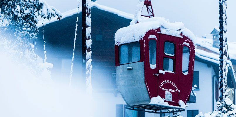 Retired cable car in Courmayeur. Photo: Mattias Fredriksson