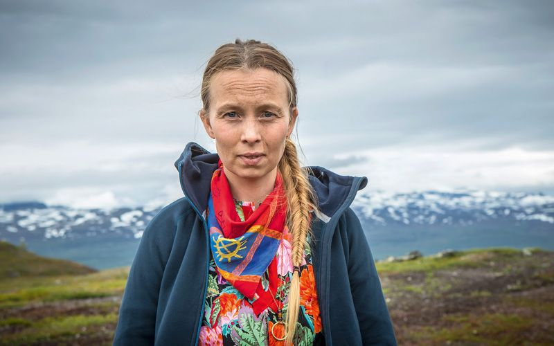 Sofia Jannok played the part of The Noaidi (wise teacher in Sami mythology) in the Swedish-French TV series Midnight Sun. Photo: Ulrika Malm ULM / TT
