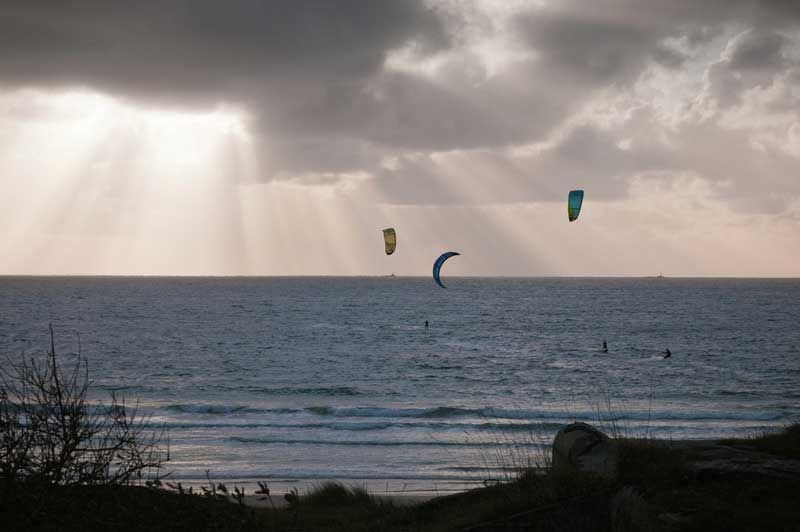 You can also have a go at kiting. Here from Sola at Stavanger. Photo: CH, Visit Norway