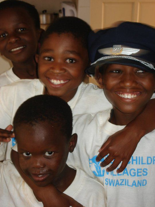 These children live in the children's village of Siteki in Swaziland. SAS employees have helped build and run one of the houses in the children's village here. Photo: private