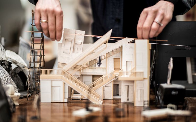 Mia Stensgaard initially creates her stage sets with 1/25-scale models. Photo: Rasmus Flindt Pedersen