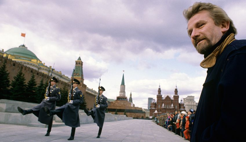 Steinfeld at Red Square, Moscow.
