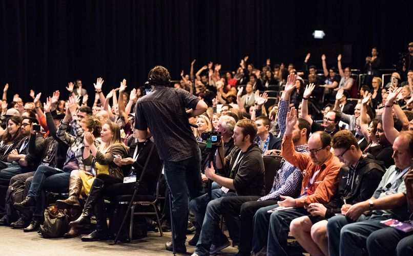 Often no holds-barred debates, the Q&A sessions are always a big draw. Photo: Ann Alva Wieding