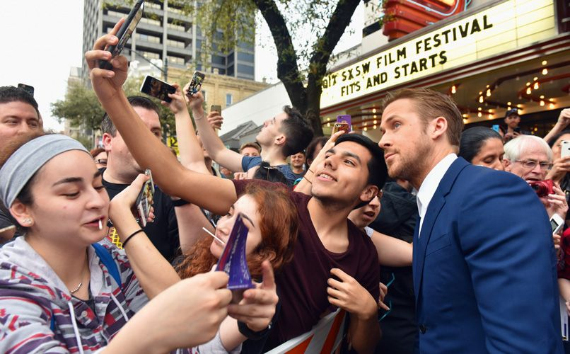 Selfies with actor Ryan Gosling. Photo: Ann Alva Wieding