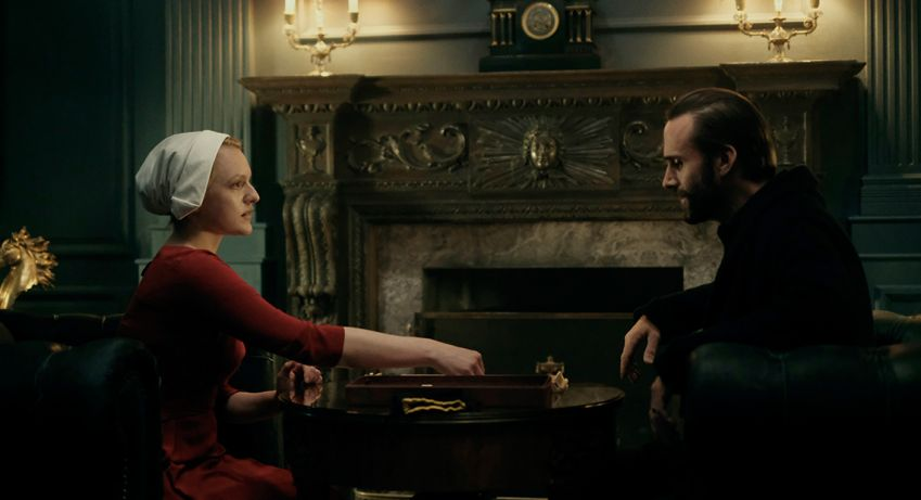 Elisabeth Moss as Offred in Margaret Atwood's The Handmaid's Tale. Photo: HBO Nordic