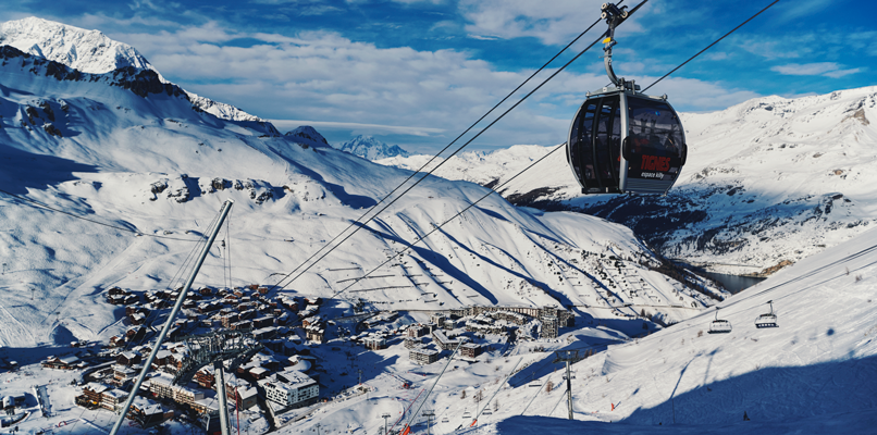 The view over Tignes. Foto: Anton Enerlöv