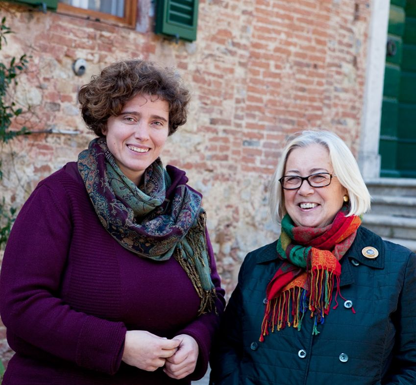 Barbara Magnani, enotechnician and winemaker, with Donatella Cinelli Colombini. Photo: Johanna Ekmark