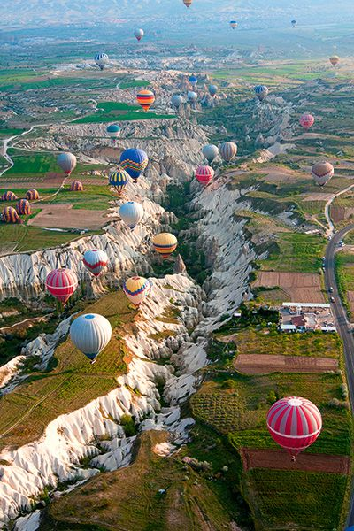 Why not experience the beautiful landscape from a hot air balloon? Photo: Shutterstock