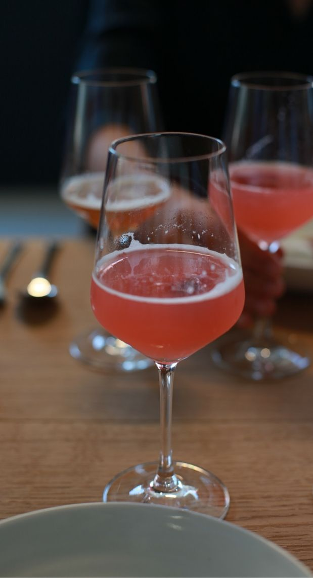 Rhubarb cocktail created for the pleasure. Photo: Lise Hannibal