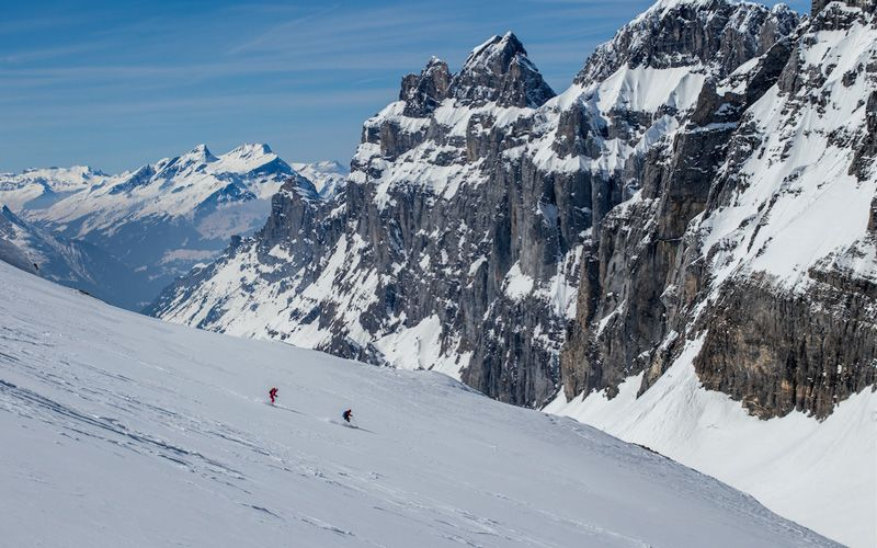 """Urner Haute Route is called """"the skiers' haute rote"""". It's not hard to understand why. Photo: Johan Axelsson"""