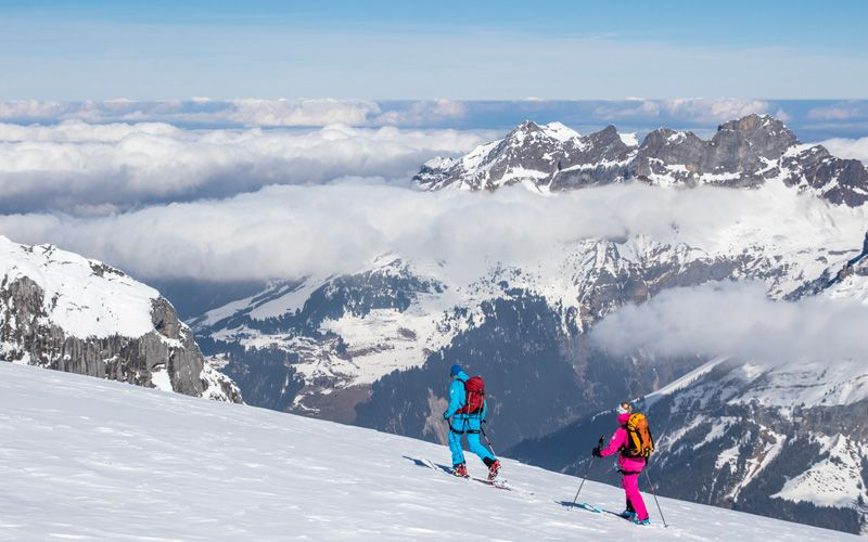Frédéric and Janicke on their way to Grassen. Photo: Johan Axelsson