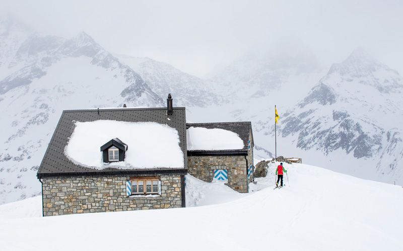 Sustlihütte  is one of many cabins available in the Swiss Alps. Photo: Johan Axelsson