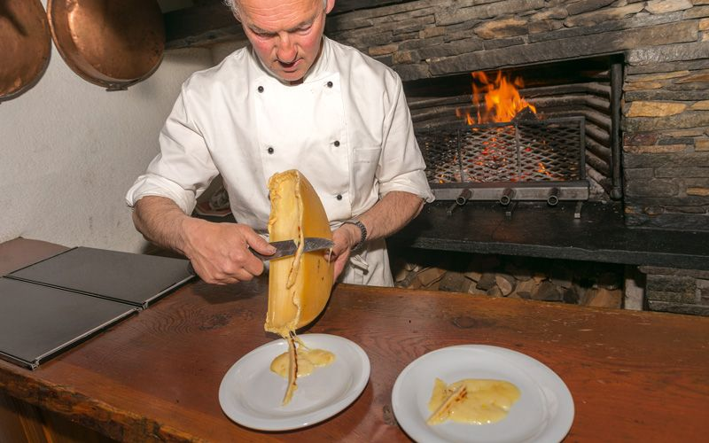 Raclette is the food of the mountains. Photo: Mauro Rongione