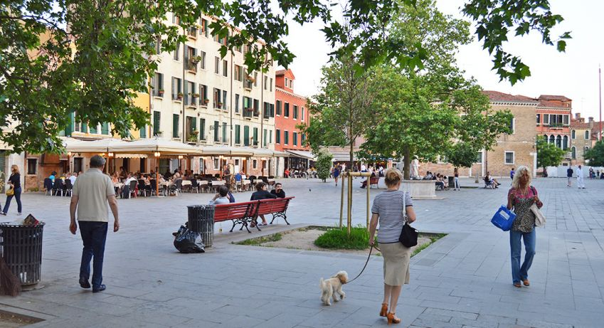 Campo Santa Margherita is the place to go with friends when you want to live it up in Venice. Photo: Emma Brink