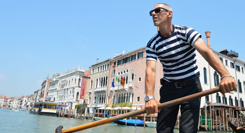 A gondolier will take your from one side of the canal to the other in just a couple of minutes.  Photo: Emma Brink