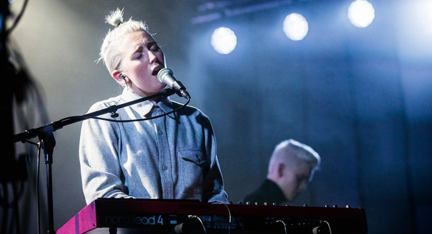 The Icelandic indie electro band Vök at Iceland Airwaves last year.