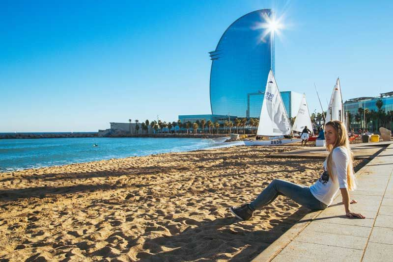 Hotel W in Barcelona has a fantastic beach side location. Photo: Shutterstock