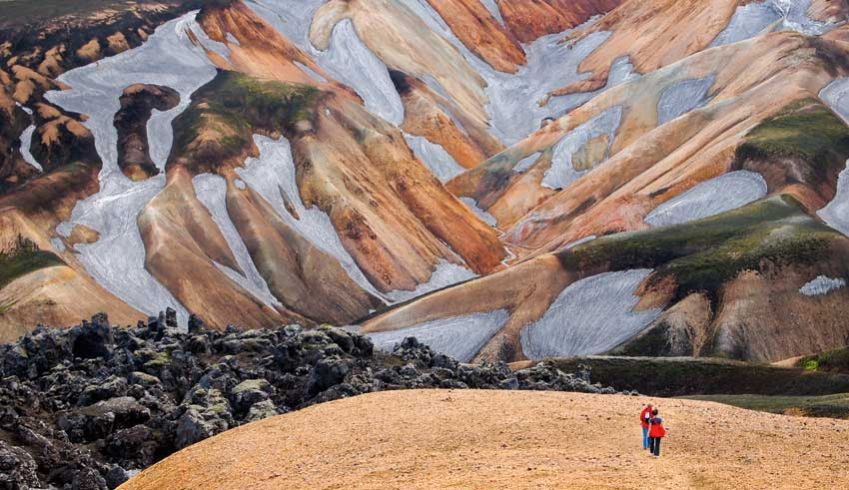 Hiking, volcano style in Iceland. Photo: Shutterstock