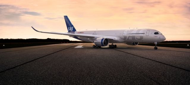 This is SAS' new airplane livery
